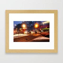 Turnpike Lane London Bus Framed Art Print