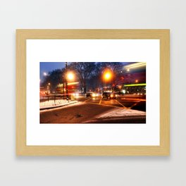 Turnpike Lane London Bus Framed Art Print