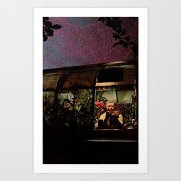 Midnight Flower Shop Art Print