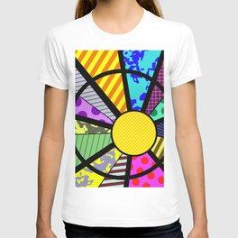 SUNRISE - RETRO, GEOMETRIC, FUN DESIGN T-shirt