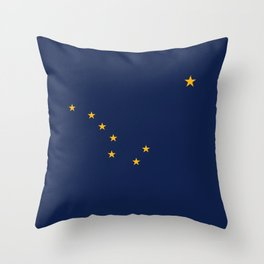 Alaska State Flag, Authentic version Throw Pillow