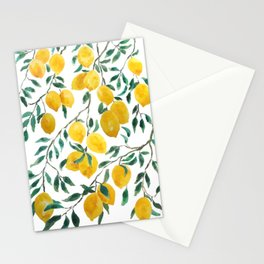 yellow lemon watercolor 2020 Stationery Cards