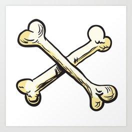 crossed bones Art Print