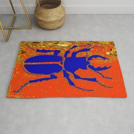 Blue Staghorn Beetle Rug