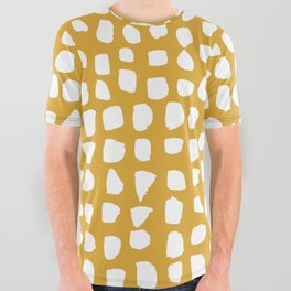 Dots / Mustard All Over Graphic Tee