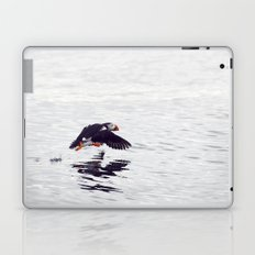 Puffin approaching! Laptop & iPad Skin