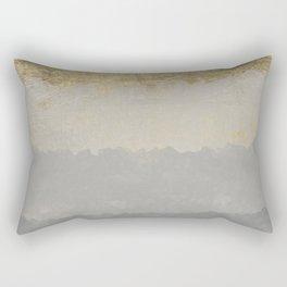 Geometrical ombre glacier gray gold watercolor Rectangular Pillow