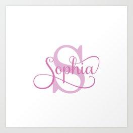 Sophia - Girls Name Art Print