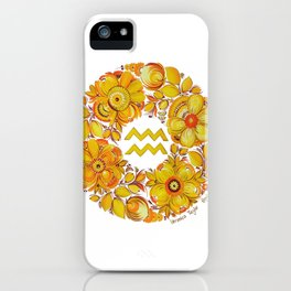 Aquarius in Petrykivka style iPhone Case