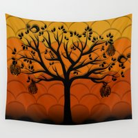 fruits Wall Tapestries featuring Fruits Talk by DipWeb
