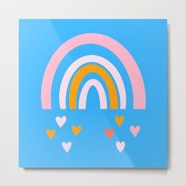Rainbow love Metal Print