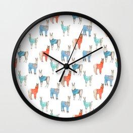 Llamas with Jumpers Wall Clock