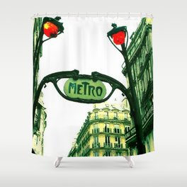 Metro in Paris Shower Curtain