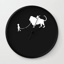 Chimera Pet Walked By Boy Wall Clock