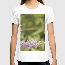 Purple Abstract Flower Vintage T-shirt