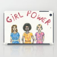 girl power iPad Cases featuring girl power by ElenaM