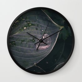 Moody Rain Wall Clock