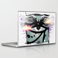 all seeing eye Laptop & iPad Skins featuring All Seeing Eye by Cody Norris