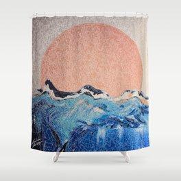 Sun of a Harvey - Storm Struggle Inspo - Acyrlic Painting Shower Curtain