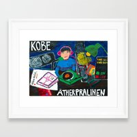 kobe Framed Art Prints featuring KOBE analogue radio station by Falafel Pool