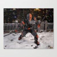 deathstroke Canvas Prints featuring DeathStroke Arkham Origin by Scofield Designs