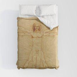 The Vitruvian Man 1405 (L Uomo Vitruviano) Leonardo da Vinci Artwork for Prints Posters Tshirts Men Comforters