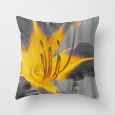 A Bit of Yellow Throw Pillow