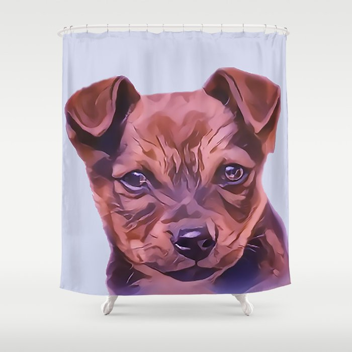 The Airedale Terrier Puppy Shower Curtain