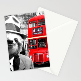 Sloth in London Stationery Cards