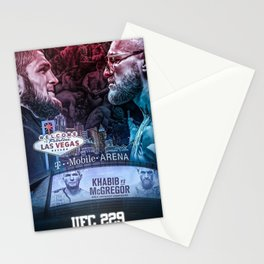 Khabib vs McGregor Stationery Cards