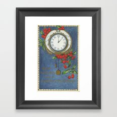 Best Wishes for a Vintage New Year Framed Art Print