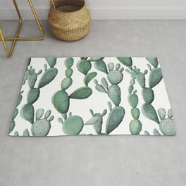 Cactus Bunch Green Rug