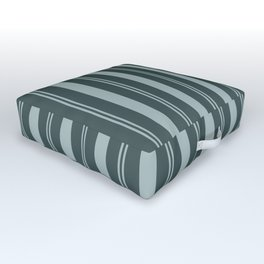 Blue Willow Green PPG1145-4 Thick & Thin Vertical Stripes on Night Watch Color of the Year PPG1145-7 Outdoor Floor Cushion
