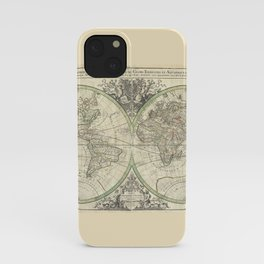 Antique Map from 1691, Sanson iPhone Case