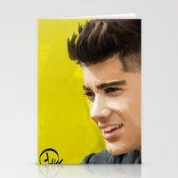 zayn malik Stationery Cards featuring Zayn Malik by Tune In Apparel