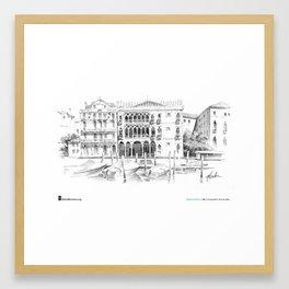 "Matthew Brehm, ""Venezia Ca dOro"" Framed Art Print"