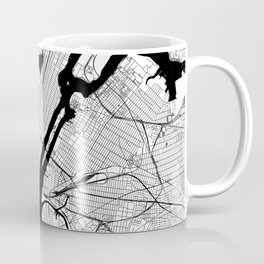 New York City Black and White Map Coffee Mug