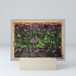Coal and Leaves 01 Mini Art Print
