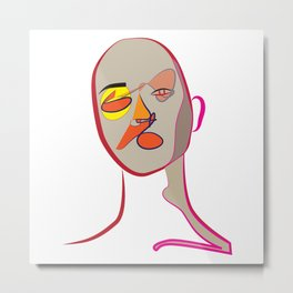 Face of Colours Metal Print
