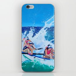 Surf Boat Rowers iPhone Skin