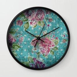 Antique flower pattern Wall Clock