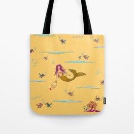 Fashionable mermaid - yellow-orange Tote Bag