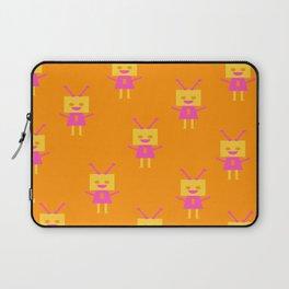 Happiest Little Robot (orange) Laptop Sleeve