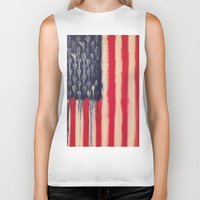 america Biker Tanks featuring America  by Matt Pecson
