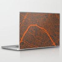 paris map Laptop & iPad Skins featuring Paris map by Map Map Maps