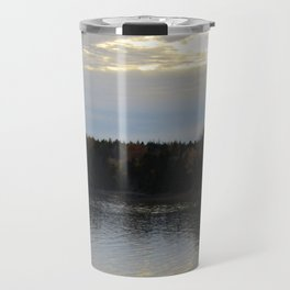 Downeast Autumn Reflections of Scattered Illuminations Travel Mug