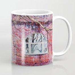 Brick Exterior with Lights Coffee Mug