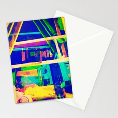 Industrial Abstract Blue Stationery Cards