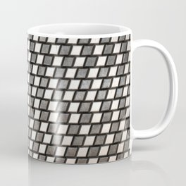 Irregular Chequers - Black Steel and Stelel - Industrial Chess Board Pattern Coffee Mug