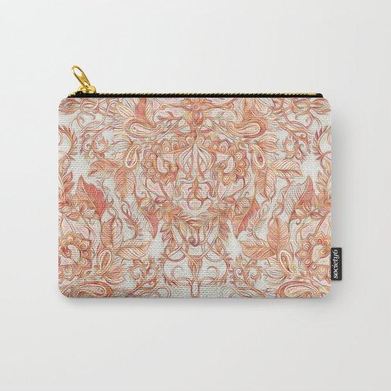 Autumn Peach Art Nouveau Pattern Carry-All Pouch